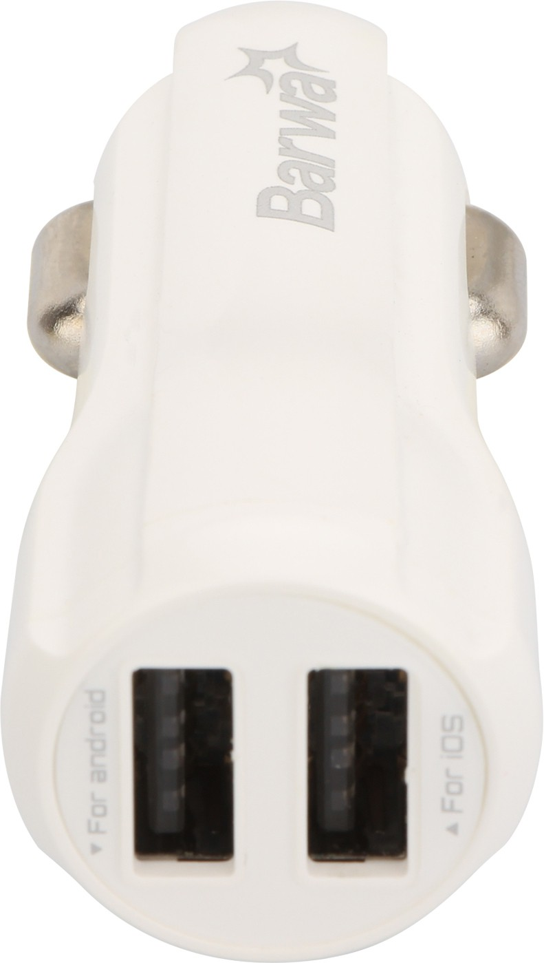 Barwa 3.4 amp Turbo Car Charger(White)