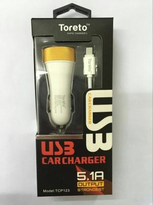 Toreto 1.0 amp, 2.0 amp, 2.1 amp Car Charger