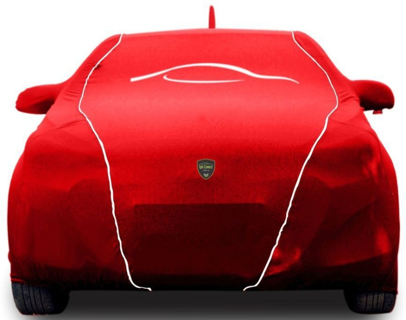 TPH Covers Car Cover For Volkswagen Polo (With Mirror Pockets)(Red)