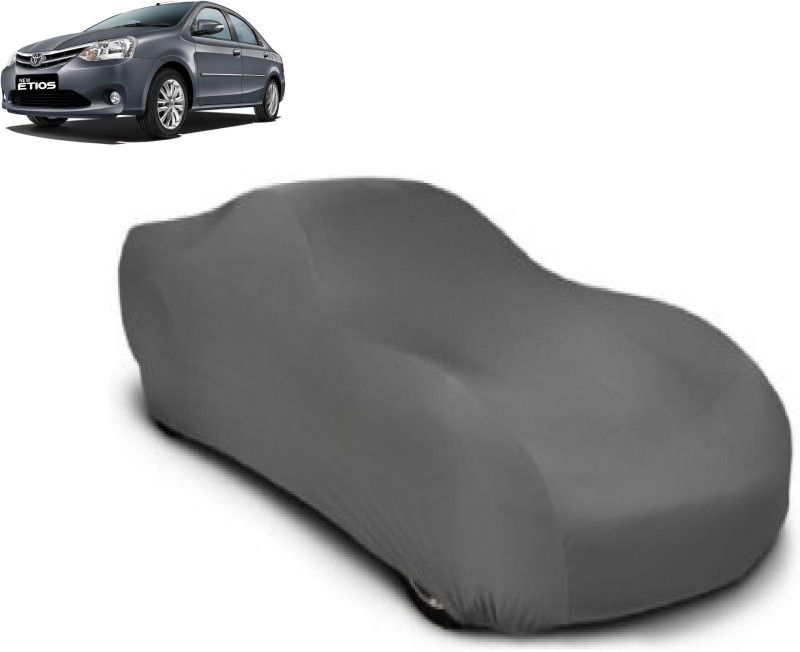 Designerkarts Car Cover For Toyota Etios(Grey)