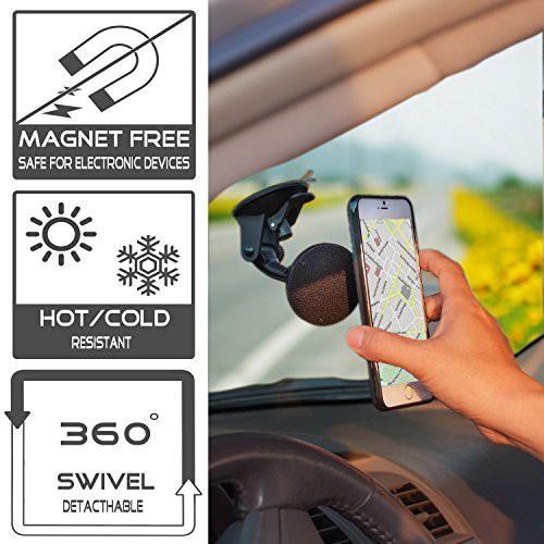 TFY Car Mobile Holder for Windshield(Black)