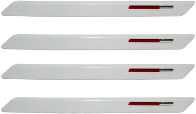 CTN Plastic Car Bumper Guard(White, Pack of 4, Toyota, Fortuner Old)