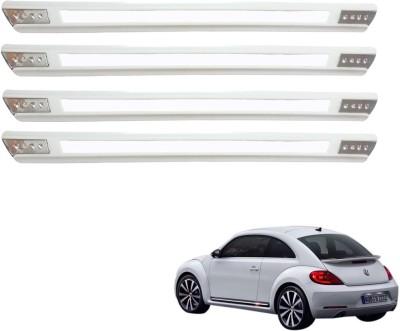 Kozdiko Stainless Steel, Plastic Car Bumper Guard(White, Pack of 4 Bumper Protector, Volkswagen, Beetle)