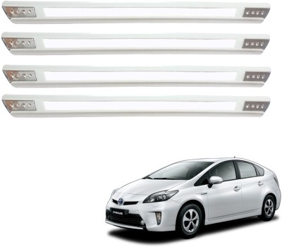 Kozdiko Stainless Steel, Plastic Car Bumper Guard(White, Pack of 4 Bumper Protector, Toyota, Prius)