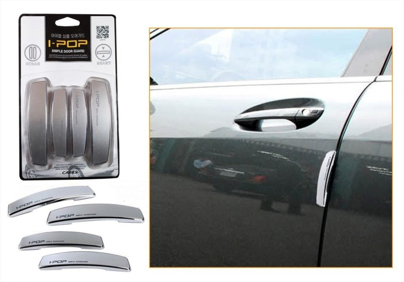 I-Pop Plastic Car Door Guard(Grey, Pack of 4, Skoda, Rapid)