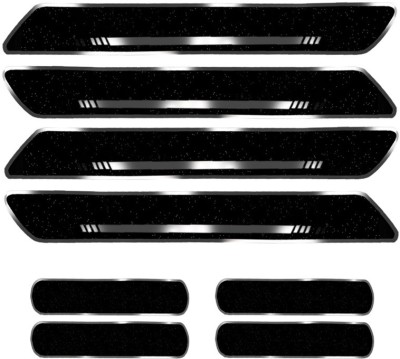 AutoSwag Silicone Car Door Guard(Black, Pack of 8, Toyota, Fortuner Old)