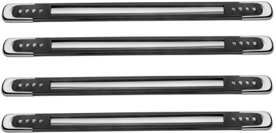 Speedwav Stainless Steel Car Bumper Guard(Black, Silver, Pack of 4, Universal For Car, Universal For Car)