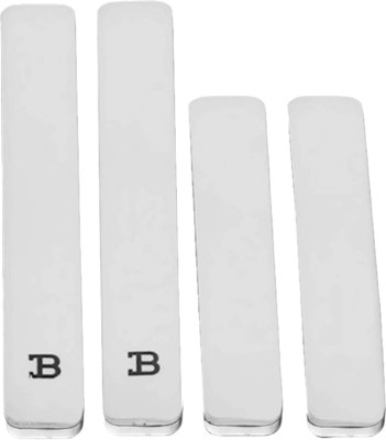 Fouring Plastic Car Door Guard(Silver, Pack of 4, Universal For Car, Universal For Car)