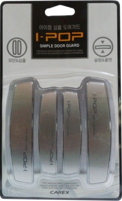 I-Pop Plastic Car Door Guard(Grey, Pack of 4, Universal For Car, Universal For Car)