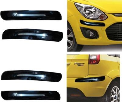 Auto Pearl Premium Quality Black Chrome Bumper Protector - Ford Figo Car Side Beading