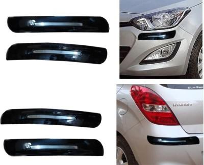 Auto Pearl Premium Quality Black Chrome Bumper Protector - Hyundai I20 Car Side Beading