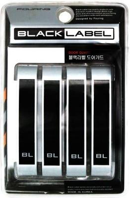 Black Label Plastic Car Door Guard(Black, Pack of 4, Universal For Car, Universal For Car)