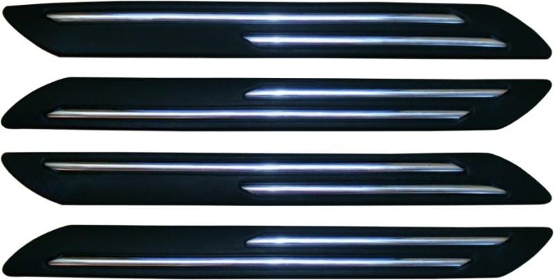 AutoKraftZ Plastic Car Bumper Guard(Black, Pack of 4, Chevrolet, Aveo)