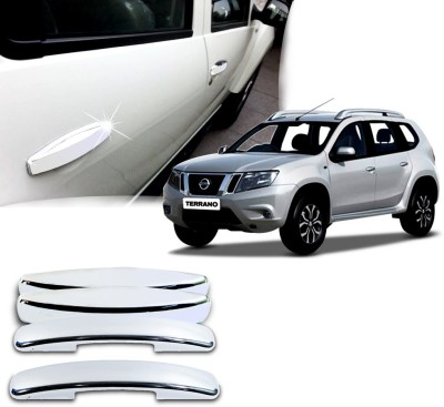 Auto Pearl Premium Quality Chrome Door Handle Latch Cover - Nissan Terrano Nissan Car Door Handle