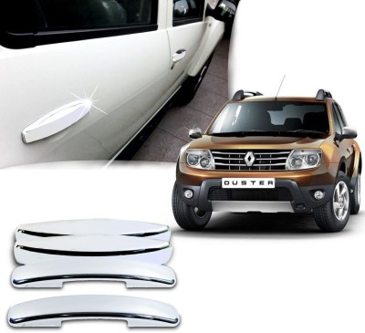 Auto Pearl Premium Quality Chrome Door Handle Latch Cover - Renault Duster Mahindra Car Door Handle(Pack of 4)