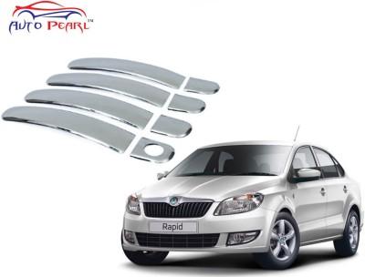 Auto Pearl Premium Quality Chrome Door Handle Latch Cover - Skoda Rapid Skoda Car Door Handle(Pack of 4)