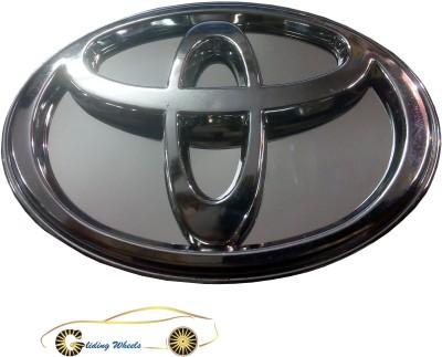 Gliding Wheels Toyota Emblem with Blue LED Light Car Fancy Lights
