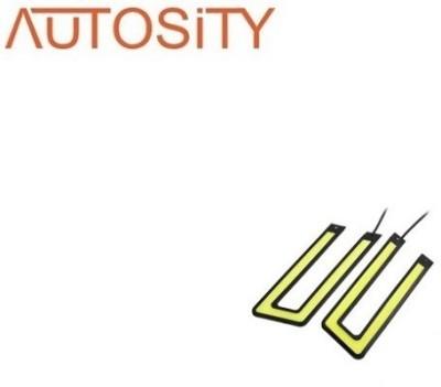 AUTOSiTY BP9987, Waterproof U Shape COB LED DRL (Universal for All Car) Car Fancy Lights