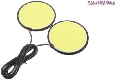 ACCESSOREEZ RSDRL086 Waterproof Round Shape COB LED DRL Car Fancy Lights