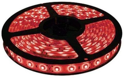 AutoStark 5 Meters Waterproof Cuttable LED Lights Strip Roll - Red Car Fancy Lights(Red)