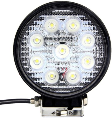 Vheelocityin 9 Led Circle Cree Auxillary Car Fog Lamp 27W Set of 2 For Honda City(White)