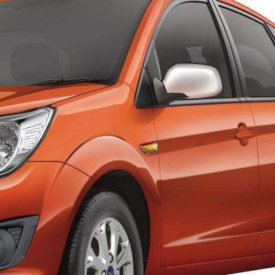 Speedwav 22918 Mirror Covers Set of 2 Chrome Ford Figo Front Garnish