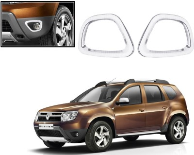 Auto Pearl Premium Quality Chrome Plated Fog Lamp Cover For -Renault Duster Car Grill Cover