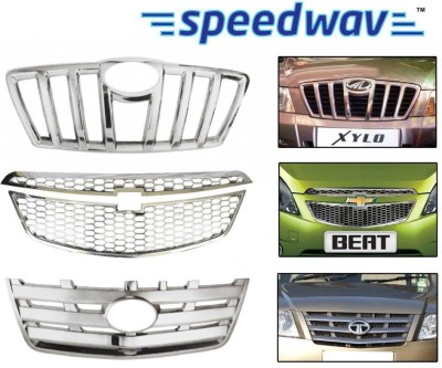 Speedwav 23023 Front Chrome Grill Covers Car Grill Cover