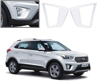 Auto Pearl Premium Quality Chrome Plated Fog Lamp Cover For -Hyundai Creta Car Grill Cover
