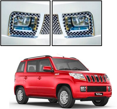 Auto Pearl Premium Quality Chrome Plated Fog Lamp Cover For -Mahindra TUV 300 Car Grill Cover