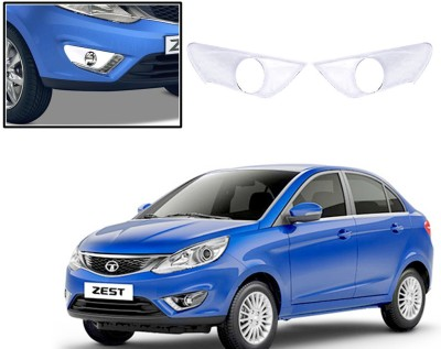 Auto Pearl Premium Quality Chrome Plated Fog Lamp Cover For -Tata Zest Car Grill Cover