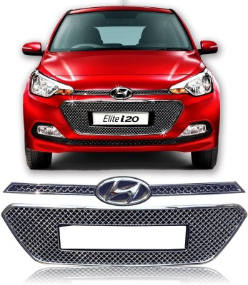 ShopAddict Chrome Plated Front Grill For Hyundai i20 Elite 2Pc Grill i20 chrome Grill Car Grill Cover