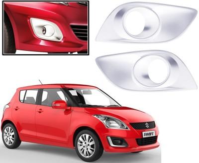 Auto Pearl Premium Quality Chrome Plated Fog Lamp Cover For -Maruti Suzuki Swift-2015 Car Grill Cover