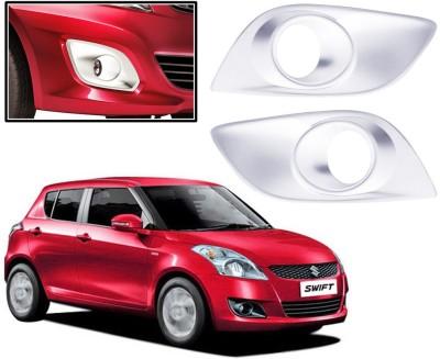 Auto Pearl Premium Quality Chrome Plated Fog Lamp Cover For -Maruti Suzuki Swift-2011 Car Grill Cover