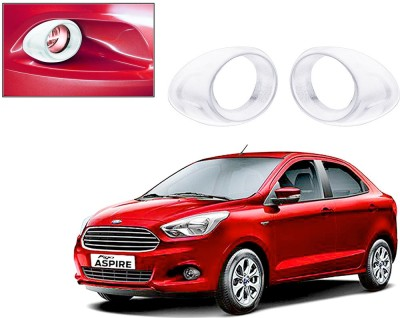 Auto Pearl Premium Quality Chrome Plated Fog Lamp Cover For -Ford Figo Aspire Car Grill Cover