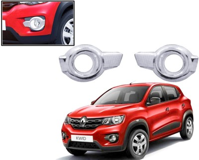 Auto Pearl Premium Quality Chrome Plated Fog Lamp Cover For -Renautl Kwid Car Grill Cover