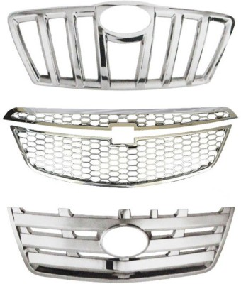 Speedwav 23032 Upper Front Chrome Grill Covers Car Grill Cover