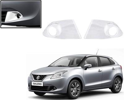 Auto Pearl Premium Quality Chrome Plated Fog Lamp Cover For -Maruti Suzuki Baleno New Car Grill Cover