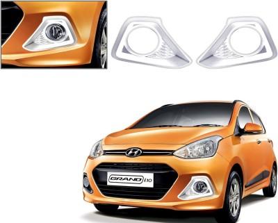 Auto Pearl Premium Quality Chrome Plated Fog Lamp Cover For -Hyundai I10 Grand Car Grill Cover