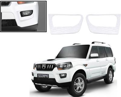 Auto Pearl Premium Quality Chrome Plated Fog Lamp Cover For -Mahindra Scorpio 2014 Car Grill Cover
