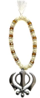 Premang Decors Silver Khanda in Crystal Beads(Camel) Car Hanging Ornament(Pack of 1)