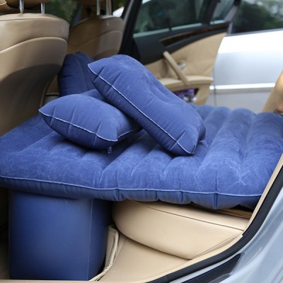 Carbed bnv009 Travel Blue Comfortable 5 In 1 Air Sofa Multipurpose Matress Airbed Overnighter With Pump For Tourism Outdoor Camping Swimming Pool Car Inflatable Bed