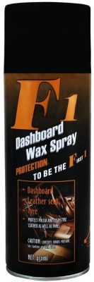 F1 F1 Dashboard Wax Polish Spray & Shiner for Leather, Dashboard and Tyres 23745 Vehicle Interior Cleaner