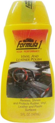 Formula 1 Formula 1 Vinyl and Leather Polish for Leather, Rubber, Vinyl and Plastic 20510 Vehicle Interior Cleaner