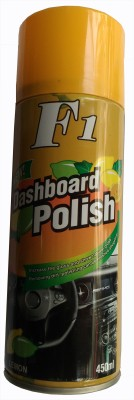 F1 Dashboard Polish CAR DASHBOARD WAX SPRAY FOR LEATHER SEAT / DASHBOARD /PLASTIC / RUBBER / TYRES (LEMON) Vehicle Interior Cleaner