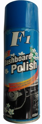 F1 Dash Board Polish CAR DASHBOARD WAX SPRAY FOR LEATHER SEAT / DASHBOARD /PLASTIC / RUBBER / TYRES (JASMINE FRAGRANCE) Vehicle Interior Cleaner