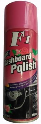 F1 Dashboard Polish CAR DASHBOARD WAX SPRAY FOR LEATHER SEAT / DASHBOARD /PLASTIC / RUBBER (ROSE) Vehicle Interior Cleaner