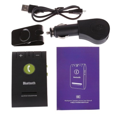 Maxbell v4.0 Car Bluetooth Device with Car Charger, USB Cable(Black)