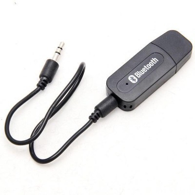 AVB v2.0 Car Bluetooth Device with Audio Receiver, USB Cable(Black)