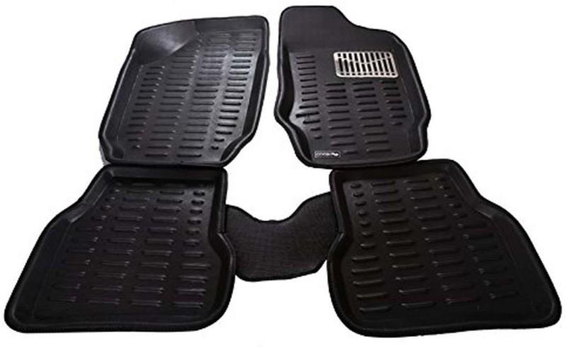CP Bigbasket Rubber Car Mat For Hyundai Fluidic Verna(Black)